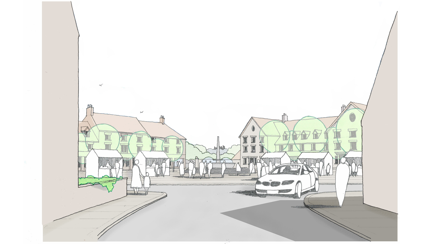 Flaxby Proposed Village Square View 1 1400x787
